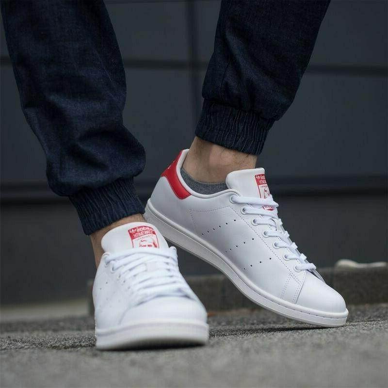 Chaussure Homme Adidas Stan Smith Blanc/Rouge M20326